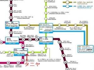 バンコク電車路線図AGEHA
