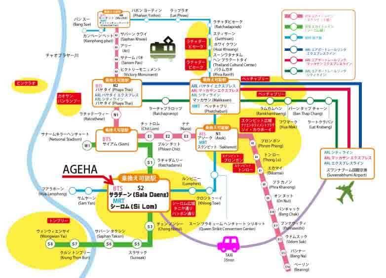 スクンビットタニヤ地図路線図